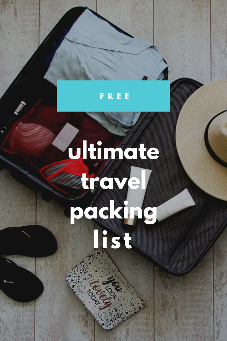 Free printable - The ultimate travel packing list
