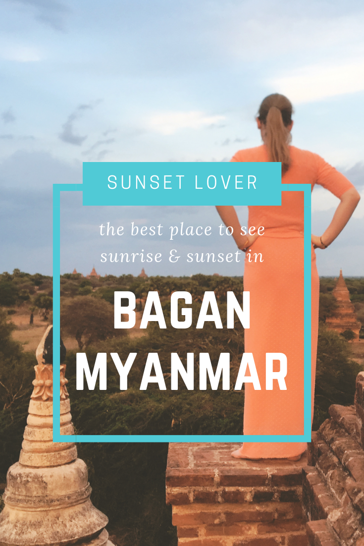 The best place to see sunrise & sunset in Bagan, Myanmar.